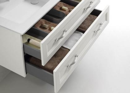 Wood drawer, soft close hardware