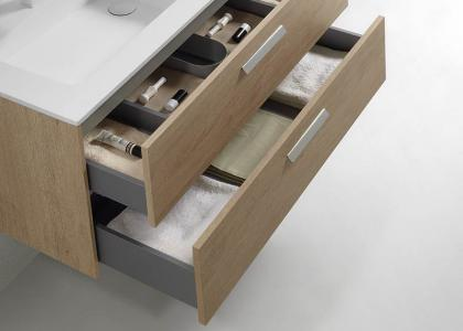 Wood drawer, soft close hardware