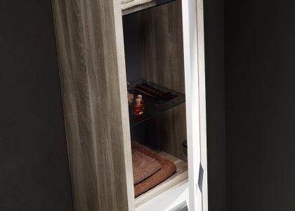 Detalle armario roma fresno blanco